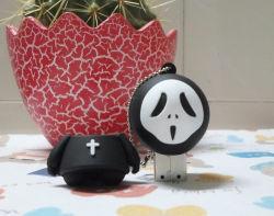 Schijf van de Flits van het Spook USB van de Dood van het Beeldverhaal van de Gift van Halloween de Promotie