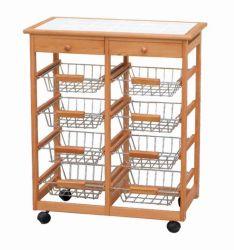 Carrinho de cozinha de madeira (HX1-3255)