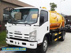 Isuzu 4000 litres pétrolier nettoyage des égouts de boues de fosses septiques Réservoir vide Déchets fécale des eaux usées du chariot d'aspiration