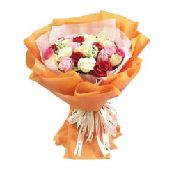 Longsun 58x58cm Paquete ramo de flores frescas Matt Flor resistente al agua del papel de embalaje