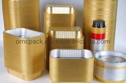 Restaurant Disposable Aluminium foil Food Tray Aluminium foil Dish in Oven Oval Fast Food/Tray/Deep foil-container