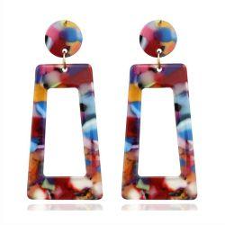 Vis d'acrylique double oreille évasée civière Expander poids chair Tunnels les bouchons de bijoux de corps de perçage
