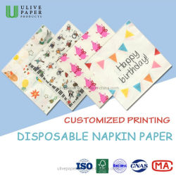 Превосходное качество печати моды Napkin напитков / клетке ткани