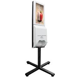 Purell Handdesinfizierer-Maschine 21.5 Zoll LCD-Bildschirmanzeige mit Selbstzufuhr und Anzeigen-Spieler für Gaststätte und Einkaufszentrum auf Lager