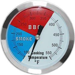 Bbq-Thermometer-Anzeigeinstrument, 2 Satz-Holzkohle-Gitter-Raucher-Temperatur-Anzeigeinstrument-Vertiefung BBQ-Gitter-Thermometer
