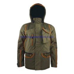 Высокая производительность высокого качества для использования вне помещений водонепроницаемый дышащий полиэстер Tricot ламинированный TPU мембраны Зимняя куртка с охоты мужчин с мягкими вставками