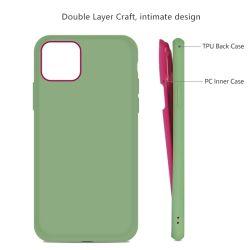 Bunter zwei Farbe der Form-Telefon-Kästen kombinierter Handy-Deckel zwei Schichten TPU+PC Telefon-Kasten-