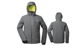 남자의 덧대진 스키 방수 Bodywarm 폴리에스테 Hoodie 겨울 재킷