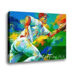 Sport pintura a óleo (P021)