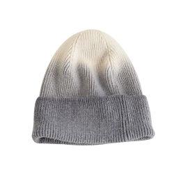 Homens e mulheres de retenção do corante tampas quentes cor de contraste costela chapéu de Inverno de malha