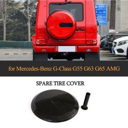 ベンツのメルセデスW463 GのクラスG63 G500 G550 G55 G65 Amg 2004-2018年のための乾燥したカーボンファイバーG63の予備車輪のタイヤカバー