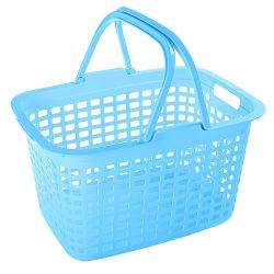 Plastica bianca commerciale all'ingrosso che lava il cestino di lavanderia sporco dei vestiti con le maniglie