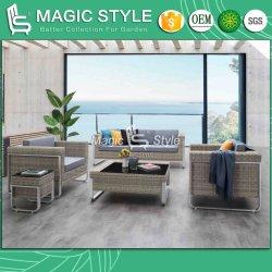 Для использования вне помещений удобный диван с подушкой плетеной плетение 3 - Сиденье диван диван в саду с плетеной мебелью таблицы чая