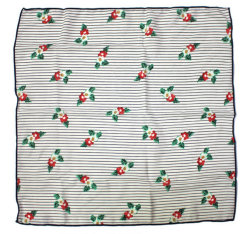 2020 Venta caliente Pañuelo de seda de Impresión Digital Square Bandana Pañuelo Silk-Screen Otoño