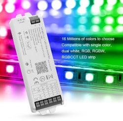 2021 새로운 Tuya WiFi 및 Bluetooth 5-in-1 LED 컨트롤러(단색, 이중 흰색, RGB, RGBW, RGBCCT)