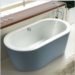 De Moderne Acryl Freestanding Badkuip van de badkuip met de Tribune van het Roestvrij staal