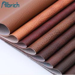 Tissu cuir synthétique en PVC pour un canapé-siège avec un chiffon Two-Color bas
