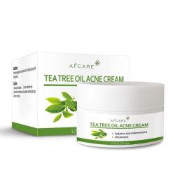 Bestes koreanisches Salizyl- Säure-Gesicht der grüner Tee-Formel-2%, das Punkt-Antiakne-Sahne weiß wird