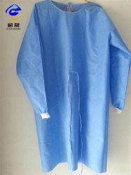 Sichere Produktions-Rohstoff-Gewebe-PP+PE lamellierter Film überzogenes 45GSM~70GSM und SMS 55GSM nichtgewebtes Gewebe für schützendes Tuch