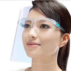 Prova de vento e o Pó Resuable convenientes para a segurança de protecção transparente de plástico transparente com máscara facial pessoais Custom Design Protetor de rosto o capô