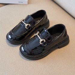 새로운 스타일 남자 슬립온 로퍼 스쿨 어린이 캐주얼 드레스 가죽 신발(SXW21-LJ2993)
