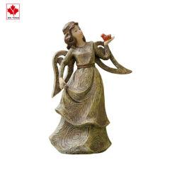 Figurine en résine d'artisanat de la chance réaliste Angel imitation de modèle du grain du bois salle rétro Figurine Collection de jardin