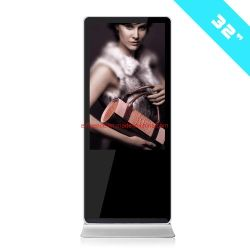 Vloer die zich LCD van het Comité van LG van 32 Duim Super Dunne Vertoning bevinden die Androïde Digitale Signage van Media Player Vertoning adverteren