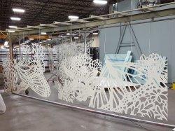 Fabricado de aço revestida a pó Tradeshow decorações do estande