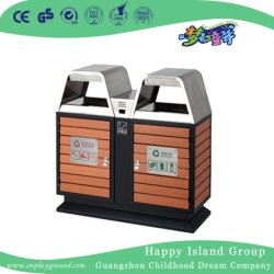 Quintal Nova Dupla Wood-Plastic Ambiental Composites Trash Can (HHK-15207)