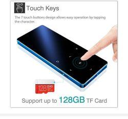 MP4-плеер Bluetooth 4.2 нажмите клавишу Ультра тонкий MP3 проигрыватель музыки