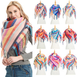 Rainbow Sgawl der neuesten Form-Dame Qualitäts-Zudecke-Frauen-Schal-multi Farben-BaumwollePashmina Troddel-Schal-Schal 100%