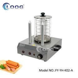 la salsiccia degli apparecchi di cucina 220V/110V che fa la griglia con 2 panini di alluminio chioda lo scaldino elettrico di cottura del pane del rullo del hot dog dei bastoni del lecca lecca