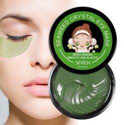 Retirer le cercle foncé apaisant d'algues Black Pearl 24K antivieillissement Eye Mask de collagène