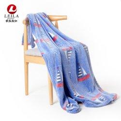 Usine directement la vente tricot personnalisés imprimés de flanelle de couvertures en laine polaire jeter
