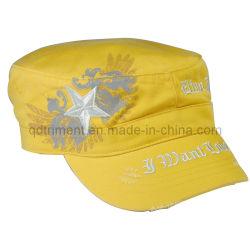 La impresión de lavado de molienda Militar del Ejército de bordado Hat (TRNM016)
