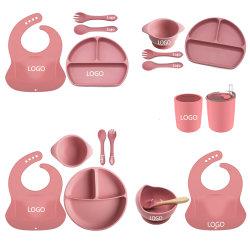 أدوات الأمازون أدوات المائدة أطباق الأطفال تناول الطعام الأطفال طبق صحون الأطفال طبق الأواني الفخارية مجموعة إطعام الطفل من السيليكون مخصصة للطعام ومقسمة طعام الأطفال ما بين السنة الأولى والثانية