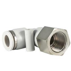 Conectores de cotovelo do tubo de rosca fêmea conexões pneumáticas, Plf Articulações
