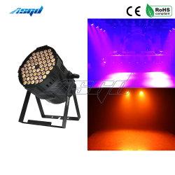 54X10W RGBW 4en1 PAR LED DMX de la luz de la etapa de lavado efecto Spotlight para DJ de música de discoteca Mostrar parte Pista de Baile Asgd
