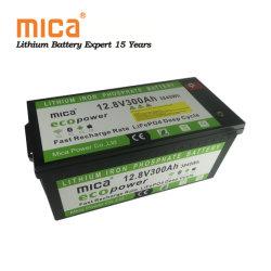 L'énergie solaire au lithium de loisirs marins RV de stockage 12V 300Ah 3.6Kwh Pack de Batterie LiFePO4