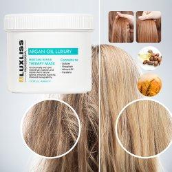 نسيج Luxliss الحرير بروتين أرغان الزيت الشعر قناع الشعر معالجة 400 مل