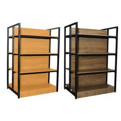 Custom Multi-function Supermarket Shelves Equipo Display Racks Acero Rack de madera