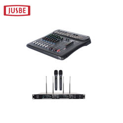 Jb-L8 8 KTVのカラオケシステム可聴周波ミキサー、コンソールのためのUSBインターフェイスが付いているチャネルによって動力を与えられる混合コンソールDJの可聴周波ミキサー