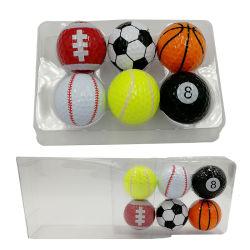 Sport-Art-Geschenk Belüftung-Paket-gesetzter Andenken-Golfball