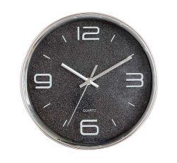 """16"""" сверкающий черный пластиковый Европы 3 с левой Quartz Настенные часы"""