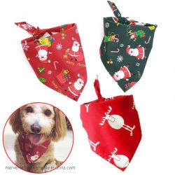 Weihnachtshaustier-Schalbandana-Hundehalsring-Sankt-Muster-Haustier-Zubehör