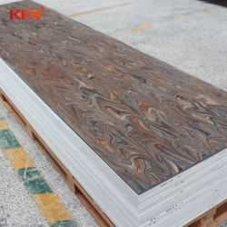 Het gewijzigde AcrylBlad van de Steen van de Oppervlakte van de Kleur van de Douane Stevige