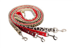 Kwaliteit Pet Accessoires Lederen PU kragen Dog Leopard lood