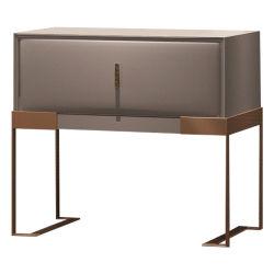 Chambre à coucher Mobilier moderne en métal Post-Modern canapé fin Table de chevet en bois