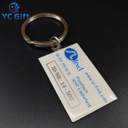 Fabricante de hierro de alta calidad personalizado Imprimir llaveros de grabado láser de la empresa Actividad de la especialidad de publicidad Llaveros regalo promocional con cualquier diseño