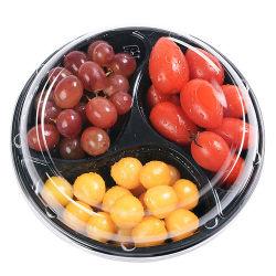 Plastik zwei/drei Fach frischer Fruchtsalat-Behälter